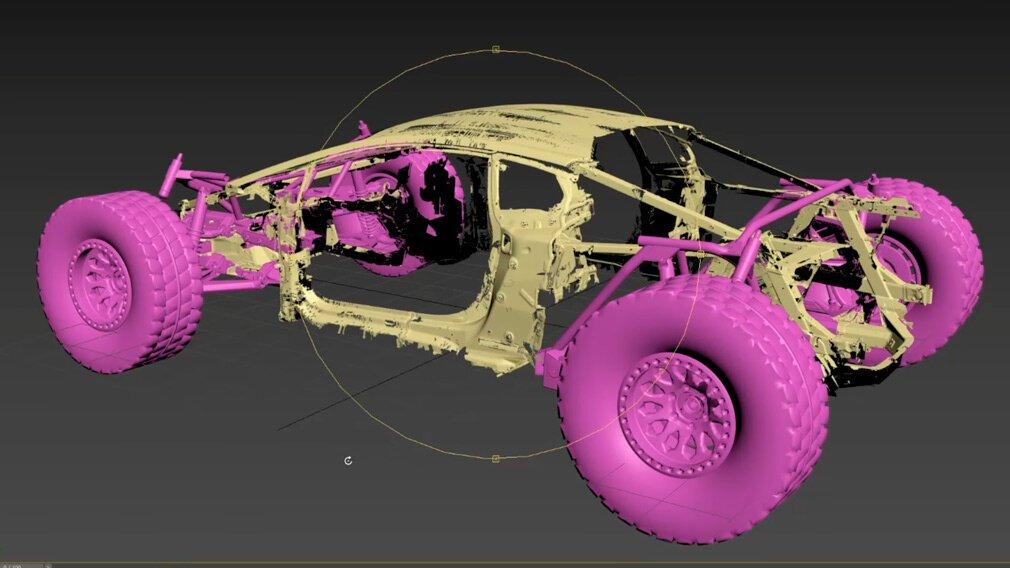 Внедорожный зверь - новая жизнь Lamborghini Huracan (1 фото + 1 видео)